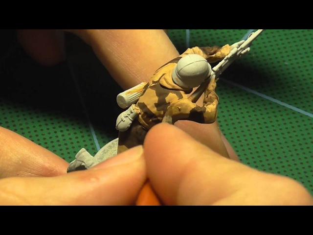 Как покрасить камуфляж на фигурке солдатика в масштабе 1 35 1 4