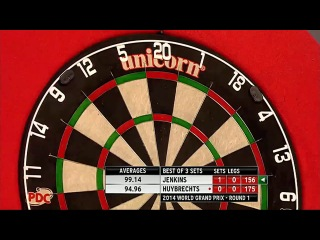 Terry Jenkins vs Kim Huybrechts (World Grand Prix 2014 / First Round)