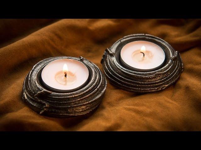 Blacksmithing - Forging a tea light holder from rebar