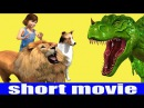 Short Film Lion tryes to Attack Small Girl But Dinosaur Saves Her 3D Animations For Children