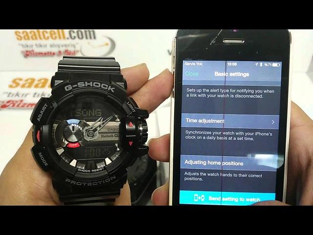Casio G Shock G'MIX GBA 400 1ADR inceleme Akıllı Telefona Bağlanma ve ayarlama Türkçe