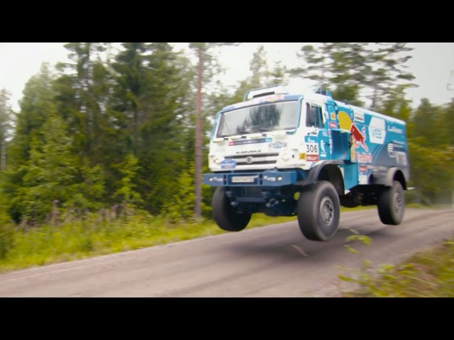 Kamaz T4 Dakar Truck Chases a Volkswagen Polo R WRC