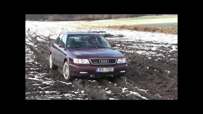 Audi A6 quattro cross na snehu a blate