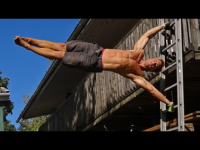 HUMAN FLAG Tutorial Progression with Complete Training for ALL Muscles involved