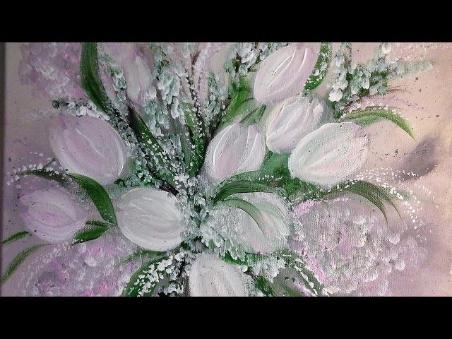 Tulpen Einfach Malen Für Anfänger in Echtzeit Easy Paiting For beginners real time V50