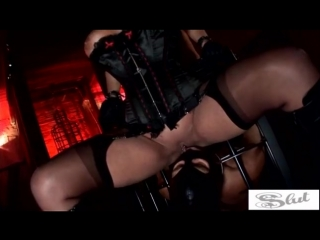 Hot fetish fucking with big-titted cunts Kerry Louise and Elle Brook [latex porn girl fetish латекс порно фетиш]