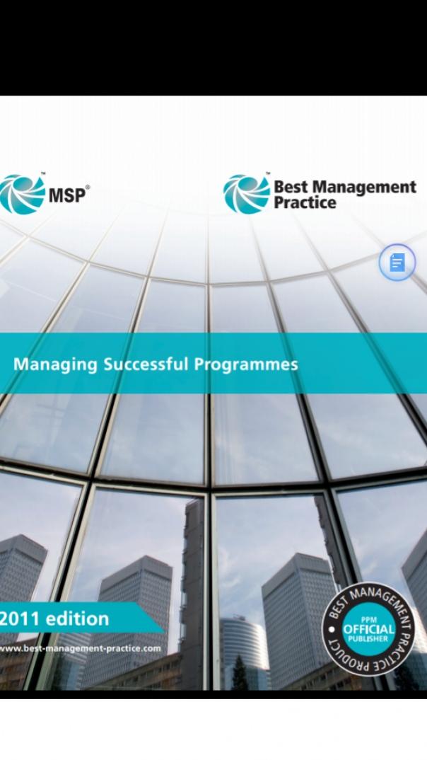 Best Management Practice Managing Successful Programme