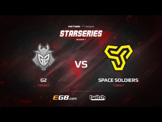 G2 vs Space Soldiers, map 1 cobblestone, SL i-League StarSeries Season 3 Europe Qualifier