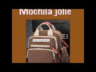 Mochila Jolie,como fazer uma mochila em costura criativa e artesanato