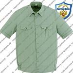 сорочка рубашка для кадетов с коротким рукавами цвет оливковый