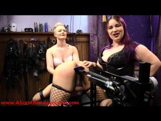 Mistress alice & denali winter - sissy fucking machine humiliation