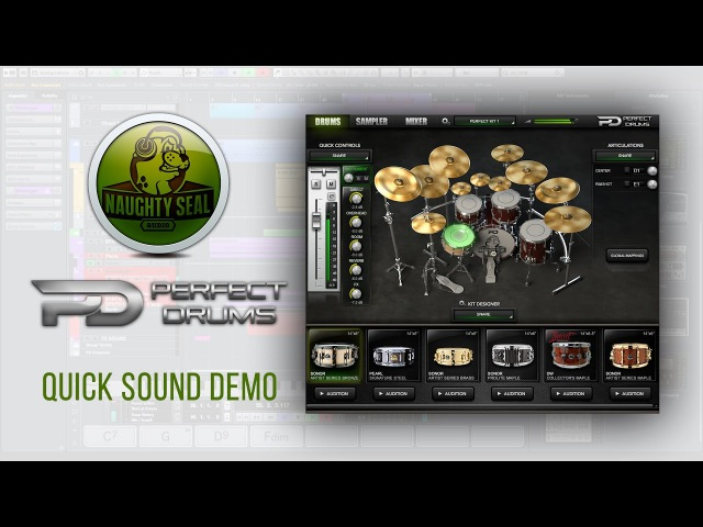 Naughty Seal Audio PERFECT DRUMS Sound Demo my preset Develop Device