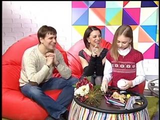 Юлия Дятко, Константин Кузнецов и их дочь Аня. Телеутро. Беларусь 2. Часть 1