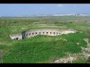 Крым 2017 Потайная крепость в керченском проливе Керченский мост из крепости неви