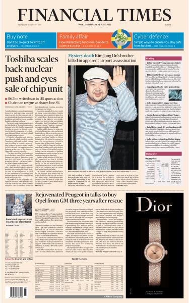 Financial Times Europe 15 February 2017 FreeMags