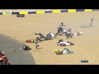 ALL Crashes Moto3 ! Motogp Le Mans 2017