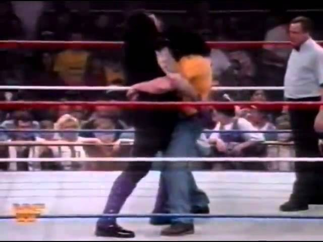 Undertaker vs Henry Godwinn 10 01 1992 Superstars of Wrestling