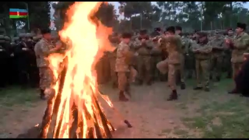 Празднование Yel çərşənbəsi в военной части на передовой 13 03 18