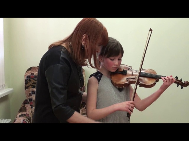 T Berkul Work on violin sound with pupils of different ages cycle of video lessons