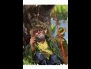 Жена у родственников дети в школе а я на рыбалке Цифровая живопись Художник Комаров Игорь