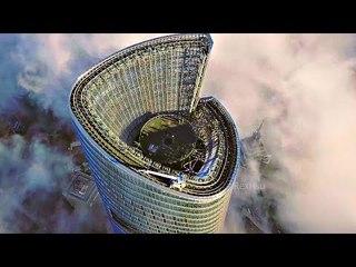 Как китайцы моют высочайшие небоскребы планеты