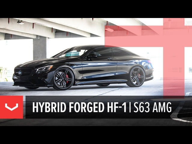 Vossen Hybrid Forged HF 1 Wheel Mercedes Benz S63 AMG Coupe Tinted Gloss Black