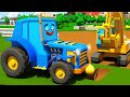 Синий Трактор ТОМ и Экскаватор ПОЛ Авто Город Трактор работает на ФЕРМЕ Детский ...