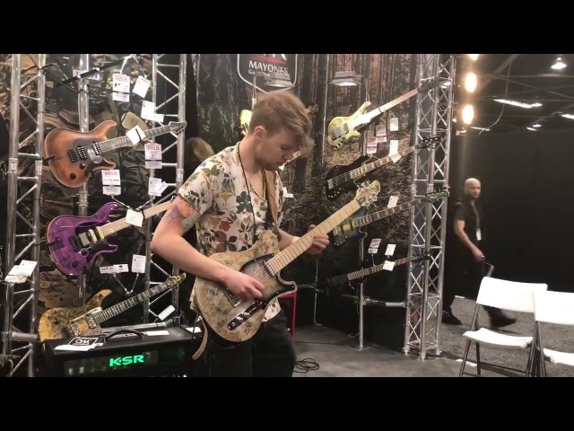Jakub Zytecki Performs 'Letters' Live @ NAMM 2018 | Mayones Guitars Basses Booth