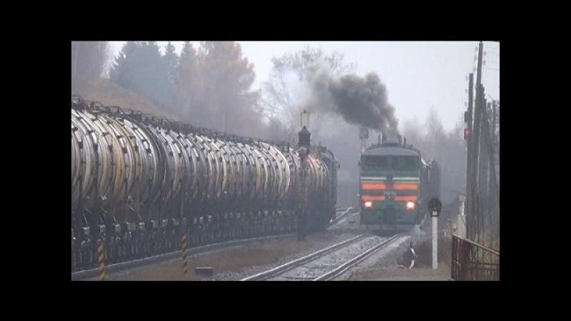 10Д100 Звук! || 2ТЭ10М - 3108 БЧ | Towarowy Mieszany || Krāslava | 08-11-2015