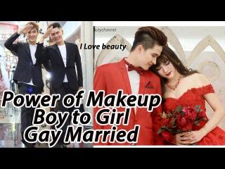 Makeup Transformation Boy To Girl - Makeup Tutorial  Married ( Full Video No Edit )