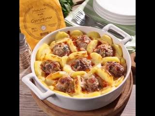 Запеканка из картофеля с мясом и сыром