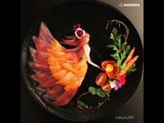 Японская мама делает потрясающие сашими