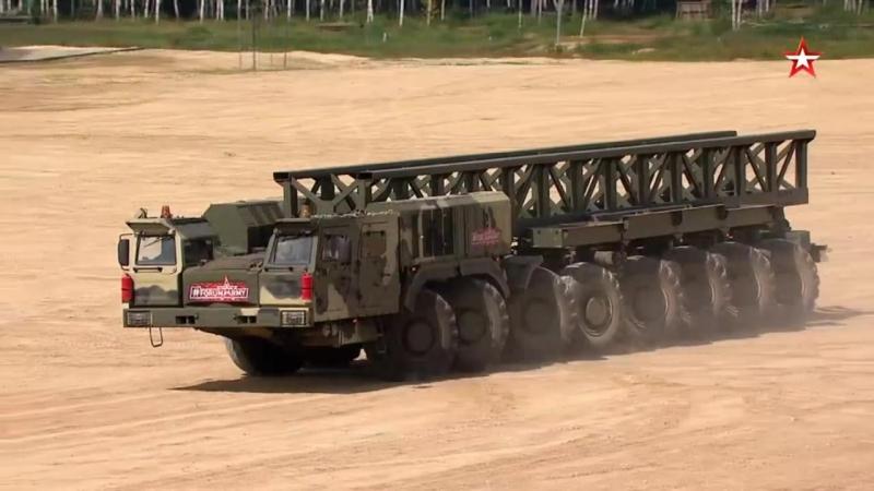 Динамический показ КамАЗ-7850 (16х16) Платформа-О на «Армия-2018»