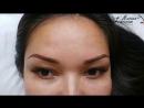 Перманентный макияж бровок До и Сразу после процедуры