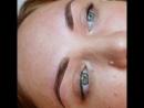 пудровые бровки сразу после процедуры перманентного макияжа