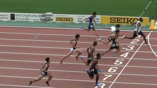 山縣亮太2着 桐生祥秀4着 男子100m ゴールデングランプリ陸上2018 IAAF World Challenge Justin Gatlin