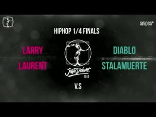 Les-Twins (Larry & Laurent) vs Diablo & Stalamuerte. Hip-hop 1/4 Juste Debout-2019