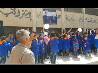 Благотворительный концерт в разрушенном войной Алеппо для детей САР.