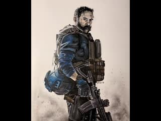 """""""bravo six, going dark"""" - cpt. price animated pencil drawing (ig: giove_adepto). black ops 4"""