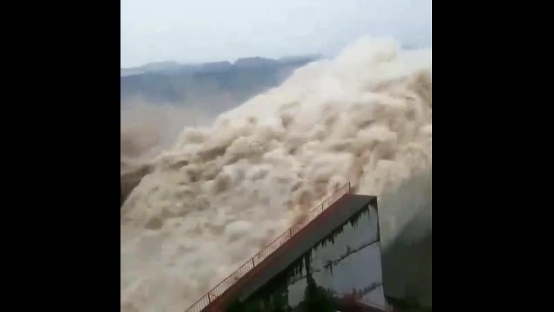 Water getting air after a dam release