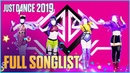 Just Dance 2019 Official Songlist FULL SONGLIST