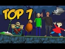 Top 7: Baldi's Basics in Education and Learning Characters in Bad Piggies