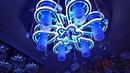 Светодиодная LED люстра с пультом, лампочками и синей подсветкой из китая
