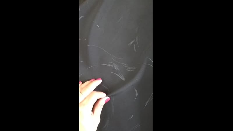 костюмная черная с черным рисунком