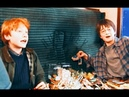 A very young Rupert Grint and Daniel Radcliffe on Harry Potter set. (2000)