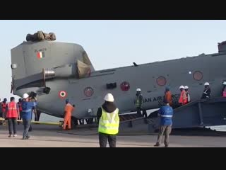 Indian Air Forces First Chinook Arrives In India