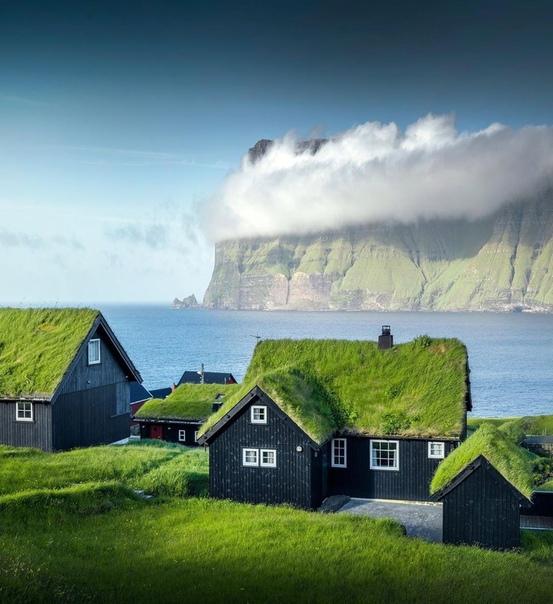 Маленькая уютная деревня на Фарерских островах
