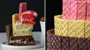 Triple Layer Neapolitan Wafer Cake