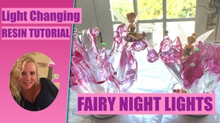 (76) TINKER BELL FAIRY RESIN NIGHT LIGHTS - COLOR CHANGING
