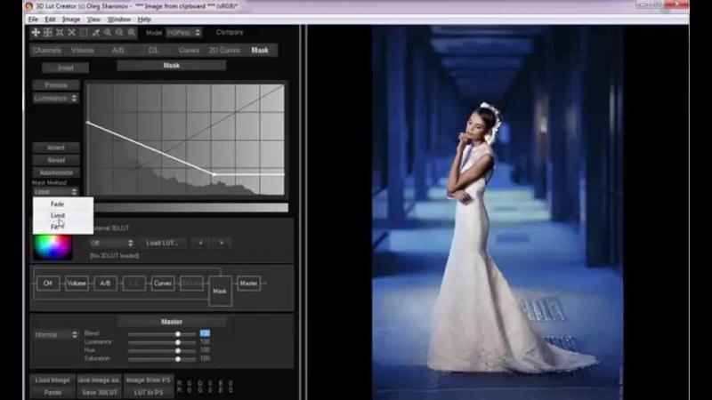 3D LUT Creator Тонирование фотографий методы Limit и Fit